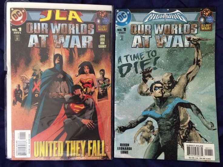 For Sale & FREE POSTAGE WORLD WIDE - Our Worlds at War Tie Ins #Nightwing & #JusticeLeague (2001) #DCComics #Batman #JLA