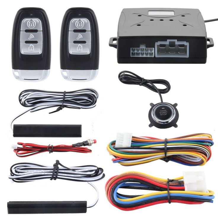 Best Price Quality Rolling Code Smart Key Pke Car Alarm System With Push Button Start Stop Remote Engine #Smart #Parts