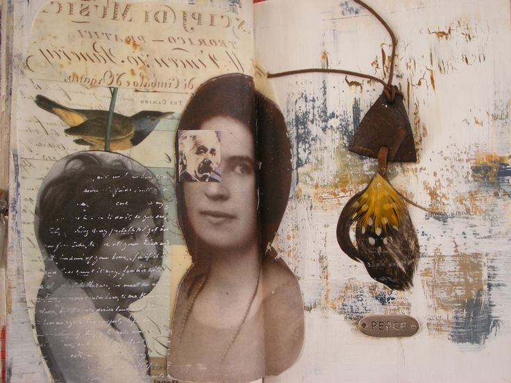 journal: Media Art Scrapbook, Journals Inspiration, Art Journals, Mixed Media, Artists Book, Castro Ferreira, Journals Spreads, Collage Paper Book, Art Journe