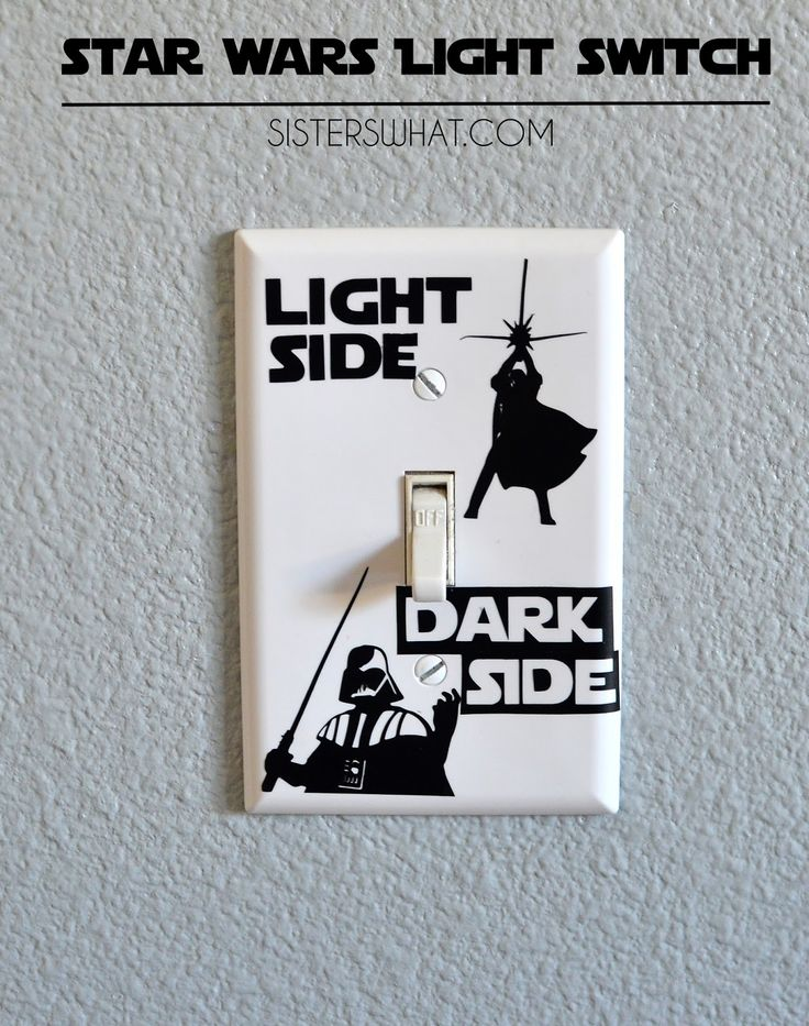 This Star Wars light switch is perfect for any Star Wars fan...Printable SVG file.