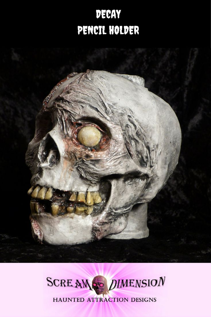 Creepy and ghoulish desk organizer pencil holder. Get yours from Scream dimension. https://www.etsy.com/ca/shop/ScreamDimension?ref=seller-platform-mcnav