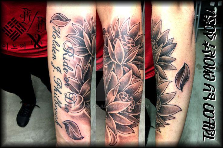 Lotus Blossoms Tattoo by Enoki Soju by enokisoju.deviantart.com on @DeviantArt