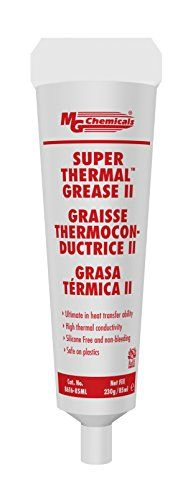 MG Chemical compounds 8616-85ML Cream Tremendous Thermal Grease II, Silicone Free and Non Bleeding, three oz, Tube The 8616 Tremendous Thermal Grease is lo