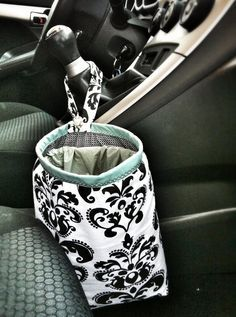 DIY car trash bag - Tutorial included!    This one was made by my mom for me for a Christmas Gift <3