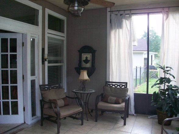 Screened Lanai / Patio, Screened In Lanai,not A Large Space But Still Feels