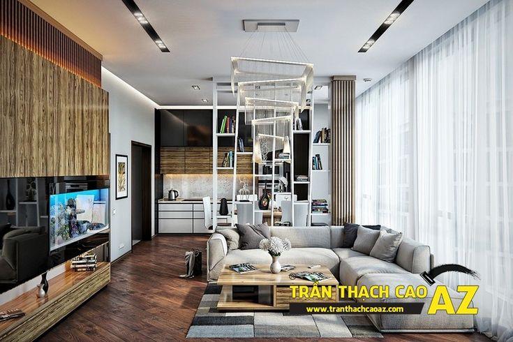 15 mẫu trần thạch cao đơn giản mà đẹp cho phòng khách nhỏ hiện đại