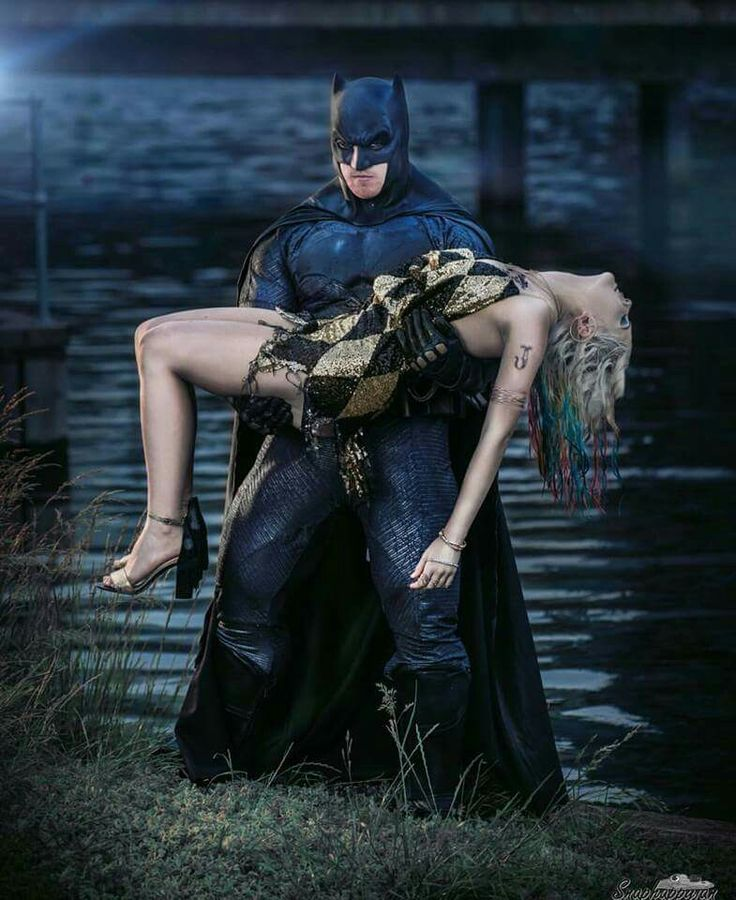Suicide squad batman and Harley