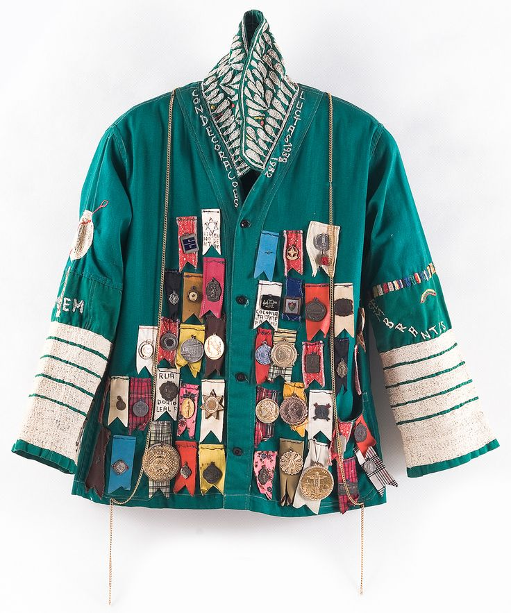 liverodland:  The incredible embroidered jackets of Brazilian outsider artist Bispo Do Rosario. Through a myriad of materials and objects (including embroidery, jackets, furniture like sculptures, models and flags) Bispo tried to explain the world to God, whom he thought – much like a parent of a teenager – did not understand his human creation anymore. Do Rosario spent the majority of his life in a mental institution but was given full freedom to express his creative sides.