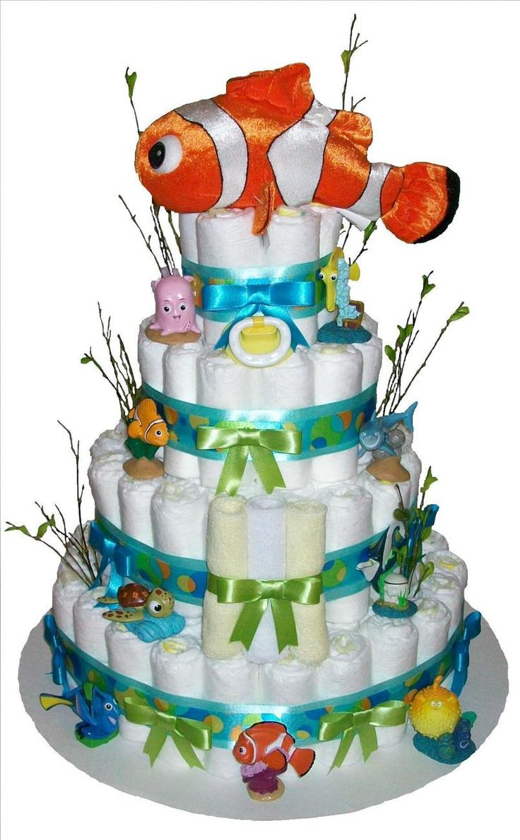 I wanna make one of these sssooooo bad!!!! Diaper cake for baby shower idea