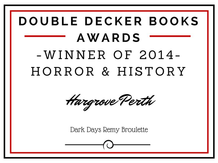 Winner of 2014 Horror & History is...
