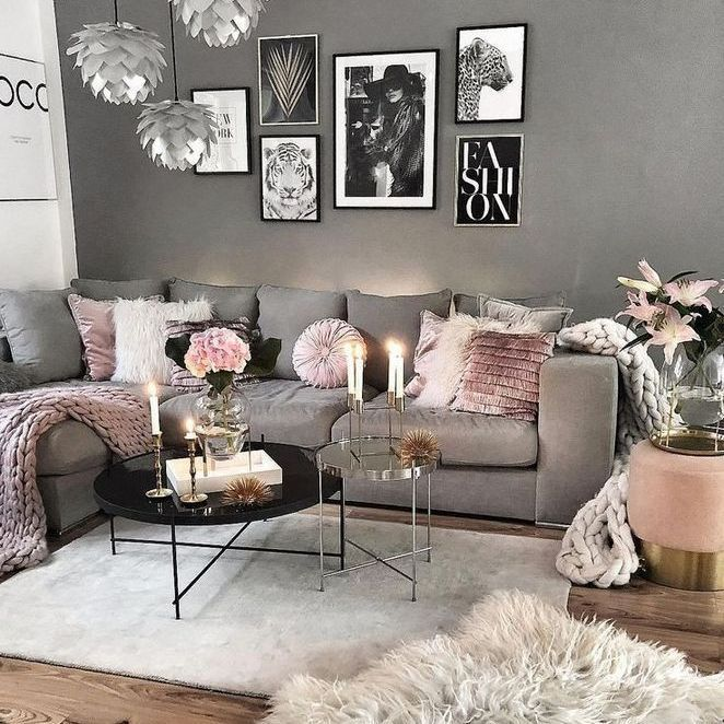 56 The Meaning Of Grey And Pink Living Room Ideas Decor 65 Decor Ideas Living Meaning Genel Pink Living Room Living Room Decor Cozy Luxury Room Decor
