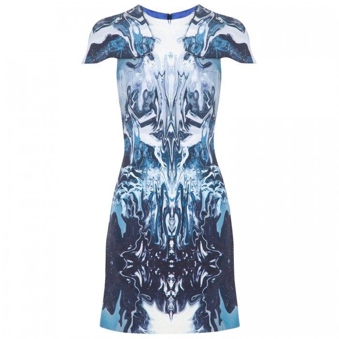 Electric Blue Stretch Silk Dress