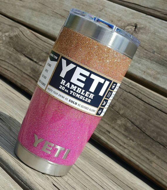 Glitter Yeti Cup Tumbler 20 Oz Yeti Rambler Ombre Gold To