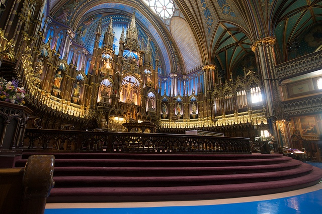Altar and Organ at the Montreal Cathedral in Montreal, Canada