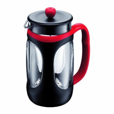 Bodum Young Press Shock Resistant French Press Coffee Maker, 1.0-Liter, 34-Ounce, Red/Black http://french-press-coffeemaker.blogspot.com #bodumyoung #frenchpress