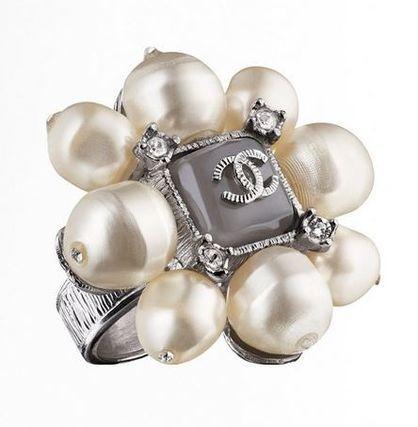 14AW Chanel シャネル ダラス ウエスタン パールリング ¥100,900