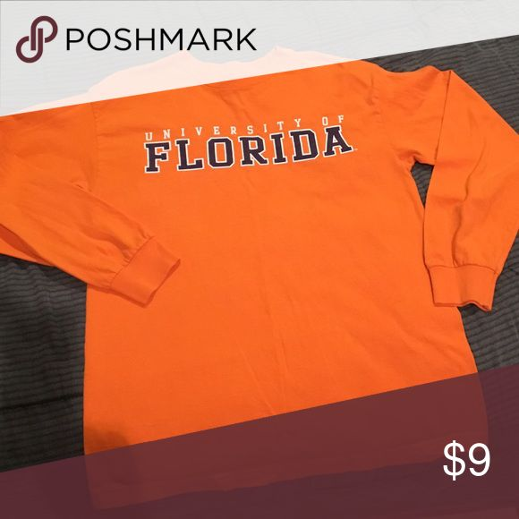University of Florida long sleeve tee shirt Orange long sleeve, University of Florida tee shirt. Still love the Gators! Just doesn't fit. Tops Tees - Long Sleeve