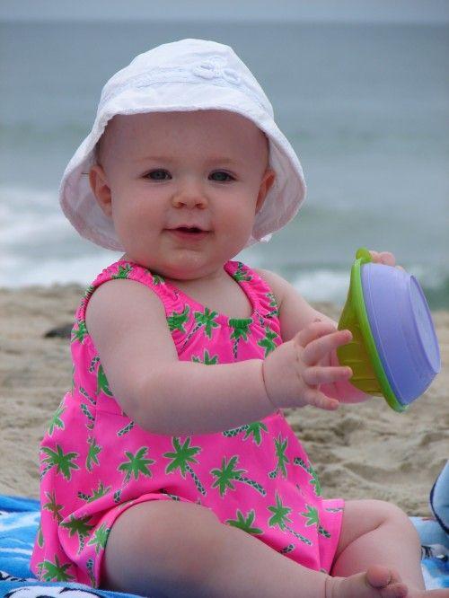 Little baby at beach