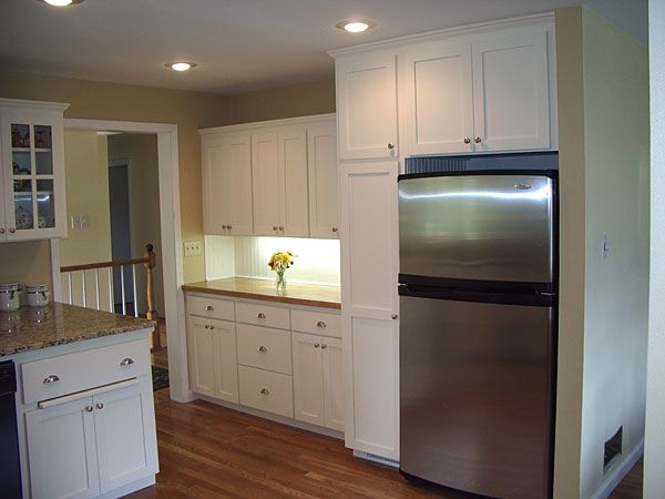 Kitchen Cabinet Refrigerators Cabinets Were Built Deeper