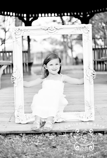 We have a frame somewhat like this, that I have been wanting to use to take pictures with.  I like the idea of separate shots and together ones.