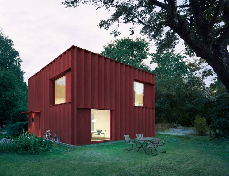 A Cross Between A Red Wooden Cottage And A Modern Box Home