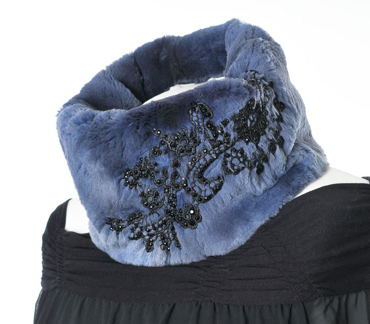 Luxus Pelz Schal geschoren Bisam luxury fur scarf muskrat Pelliccia sciarpa Piel