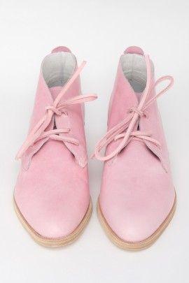 Pink Leather Benni Boot... Eeep!