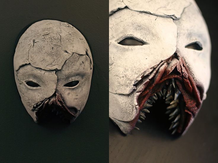 New mask - SCARHEAD Mixed media. These are just for wall decoration - not wearable. SOLD