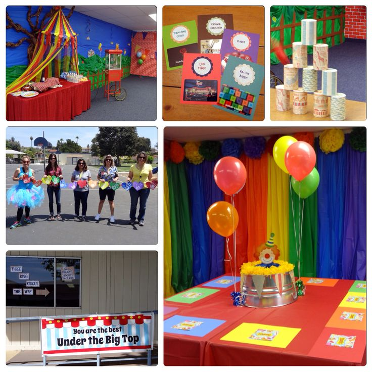 Carnival or circus theme party. | Teacher Appreciation ...