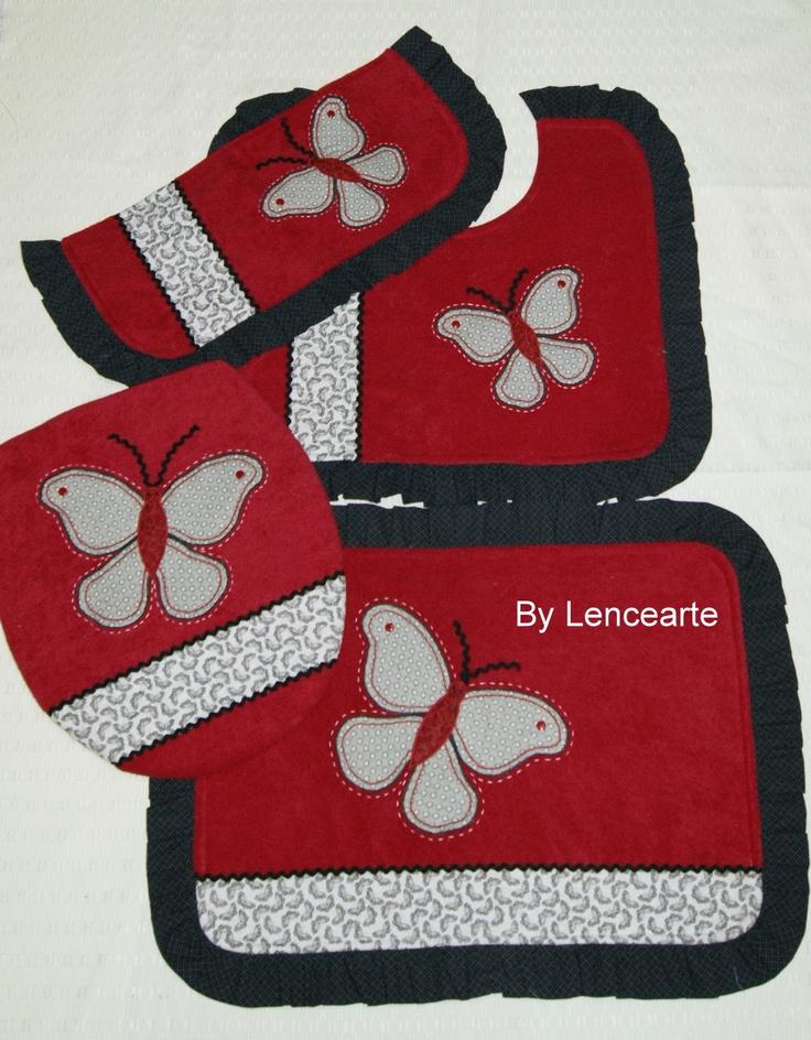 Juegos de Tapetes para Baño elaborados en amplia variedad de diseños y colores