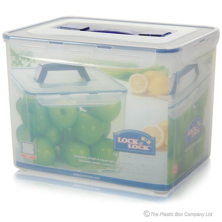Rolling Storage Containers With Handle Part - 40: 12 Litre Lock U0026 Lock Airtight Storage Box With Carry Handle And Tray
