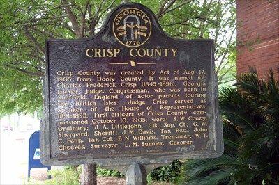 Crisp County - GHM 040-6 - Cordele, GA - Georgia Historical ...