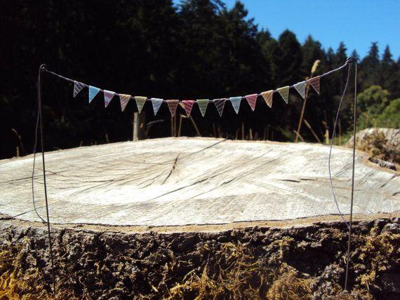 Fairy Garden Bunting Flags Miniature Garden by HelloLittleCloud, $5.00
