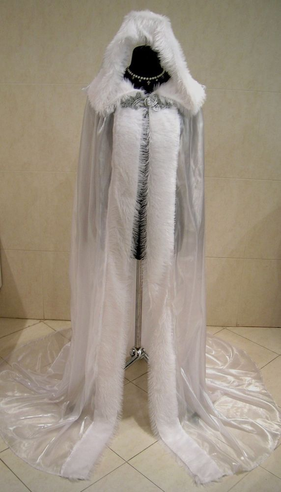 medieval cloak white cape carnival dress costume snow ice queen narnia x mas medieval cloak. Black Bedroom Furniture Sets. Home Design Ideas
