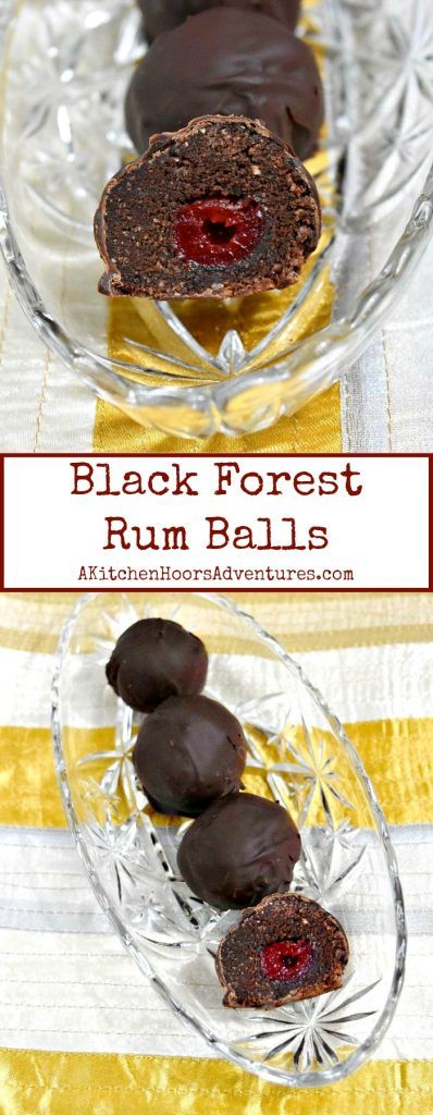 It's the #FreakyFriday Winter Edition!  These Black Forest Rum Balls are full of chocolate and cherry flavors.  It's the perfect little dessert bite. They're a version of a recipe from Life Currents. #FreakyFriday #rumballs #cookietruffles #blackforest #choclate #cherry