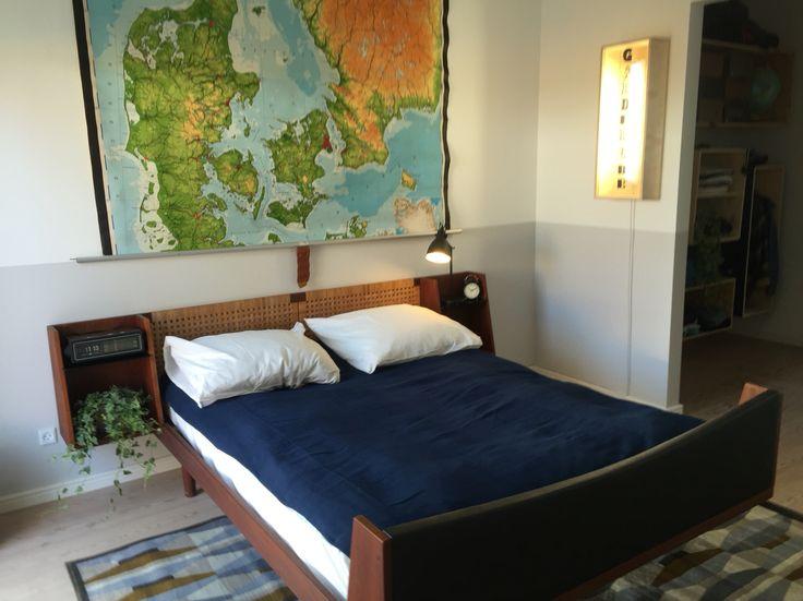 The bedroom in our new house - soveværelset i vores nye hus.