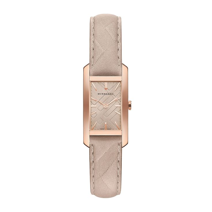 Burberry BU9511 20mm Gold Plated Stainless Steel Case Beige Calfskin Synthetic Sapphire Women's Watch