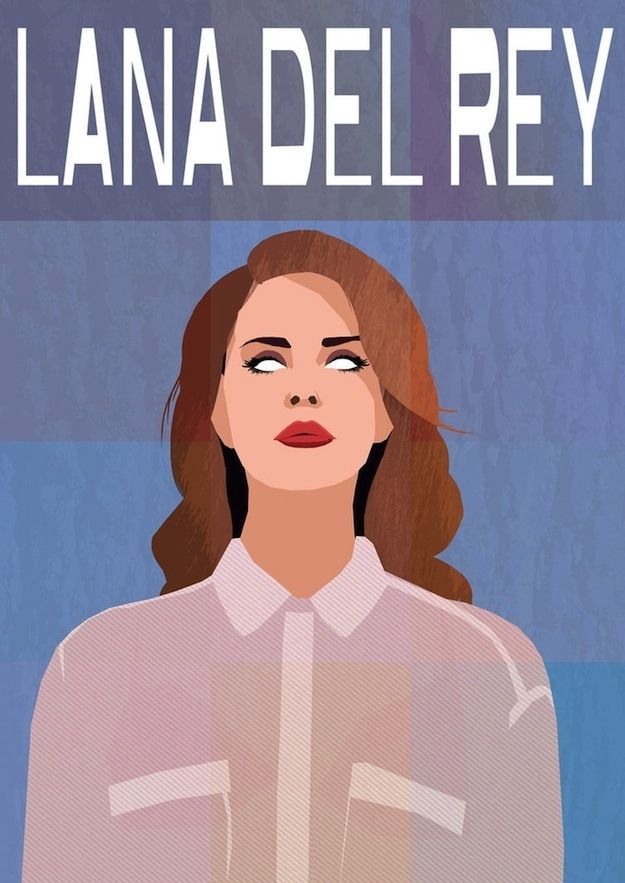 """<b>People are obsessed with this woman.</b> Singer/songwriter/lightning rod Lana Del Rey isn't just a muse for music critics' <a href=""""http://www.buzzfeed.com/gavon/26-meanest-quotes-from-reviews-of-lana-del-reys-n"""">venomous quills</a>, she seems to have inspired quite a few visual artists as well."""