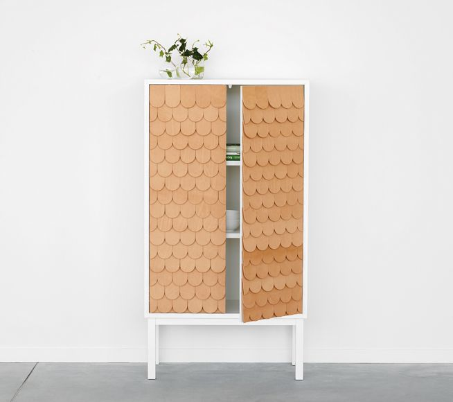 pretty leather scallops / collect cabinet by sara larsson/A2