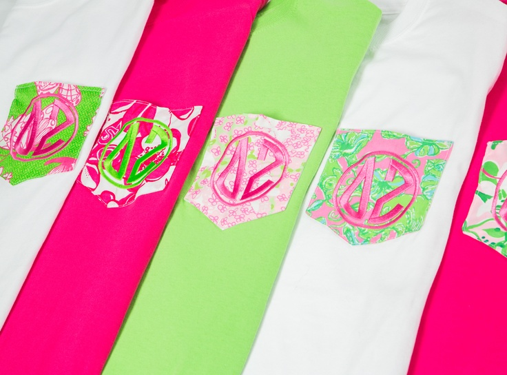 Delta Zeta Lilly pocket Frockets! www.sassysorority.com #DZ