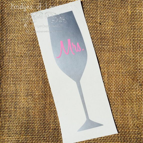 Metallic Silver Champagne Flute Mrs. or by BridgesOfExpression