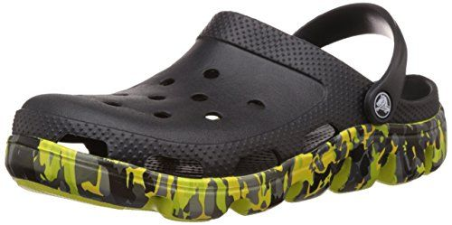 Crocs Unisex Duet Sport Marbled Clog Black Rubber Clogs and Mules - M8W10  available at amazon for Rs.2248
