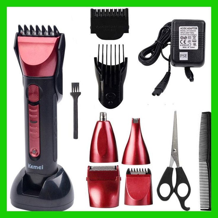 5 in 1 hair clipper rechargeable beard trimmer barber electric shaving kemei cutting machine maquina de cortar o cabelo