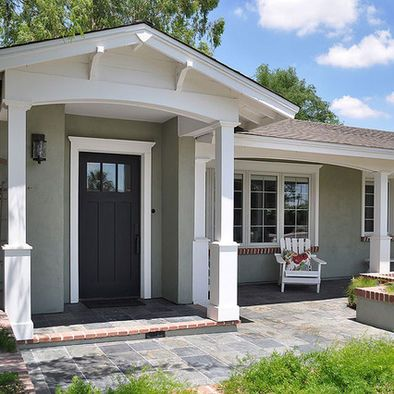 Small Front Porch Design, Pictures, Remodel, Decor and Ideas . Follow - pinterest.com/ImStyle and LIVE with Style -  SheWithStyle .COM