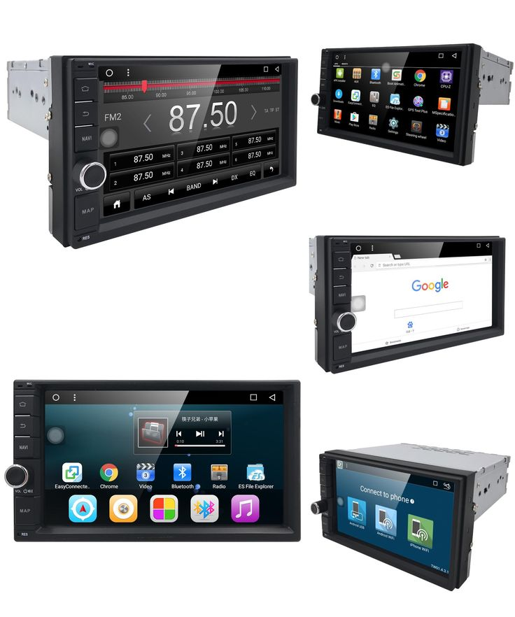 """[Visit to Buy] 7"""" 2Din Universal Android 6.0 Quad Core 1024*600 Car PC Tablet GPS Navigation Radio Video Audio Player Wifi Car Headunit(No DVD) #Advertisement"""