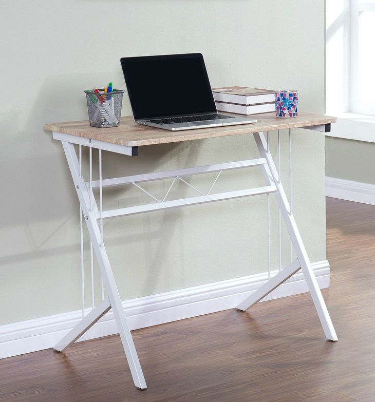 Small Computer Desk Laptop PC Study Table Office White Modern Contemporary Cheap