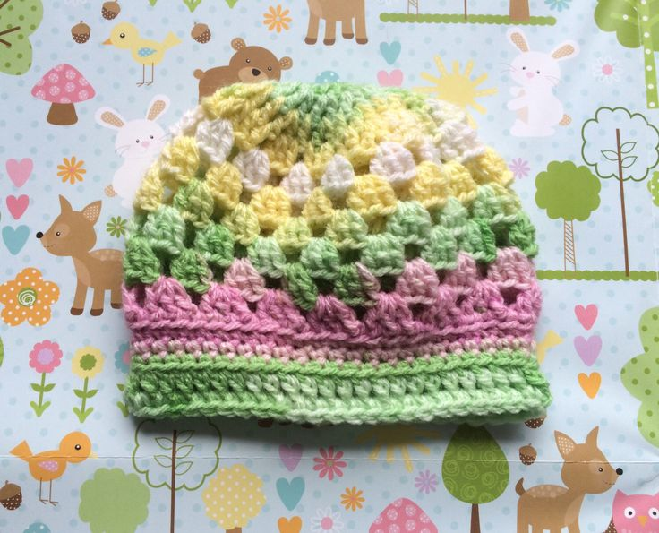 Girls or boys hat, 0 to 3  months hat, multi colour hat by Alisonscrochet on Etsy https://www.etsy.com/uk/listing/470228019/girls-or-boys-hat-0-to-3-months-hat