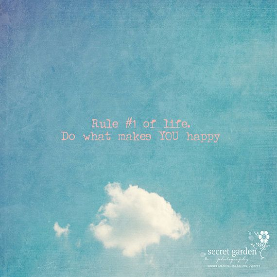 cloud sky happy quote photo print whimsical by secretgardentwo, £13.00