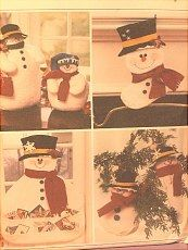 McCall's pattern for card holder and other snowmen items.  http://barbspencerdolls.com/patterns/