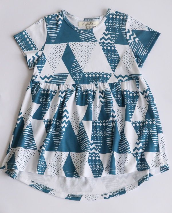 Geo Print Dress. $49.95. Organic Cotton, Unisex, Ethical & 100% made in Melbourne with love.